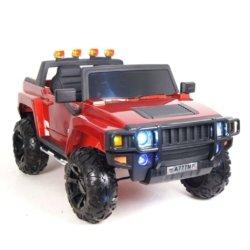 Электромобиль HUMMER A777MP красный (колеса резина, кресло кожа, пульт, музыка)